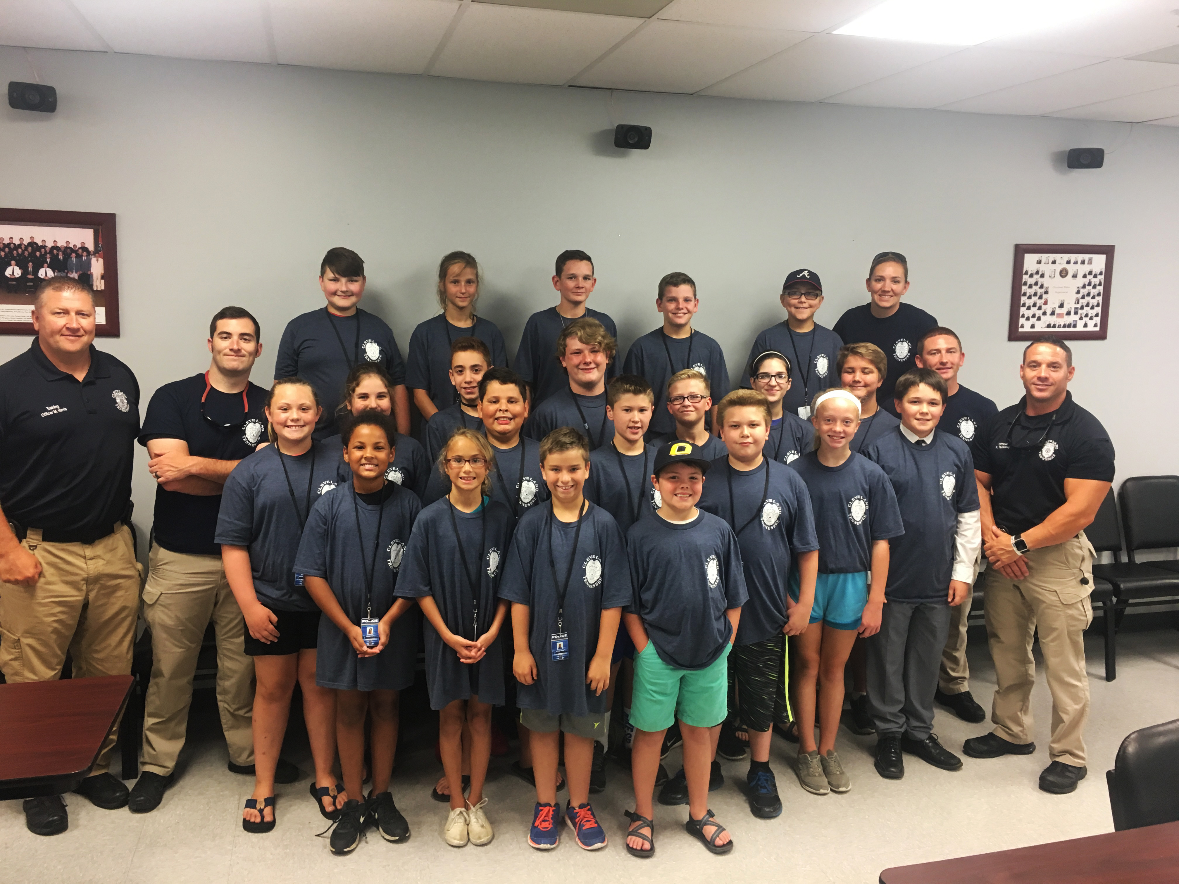 Youth Citizen's Police Academy Class