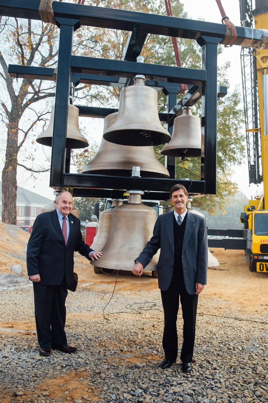 Mayor Rowland and Paul Conn - Bell Tower.jpg