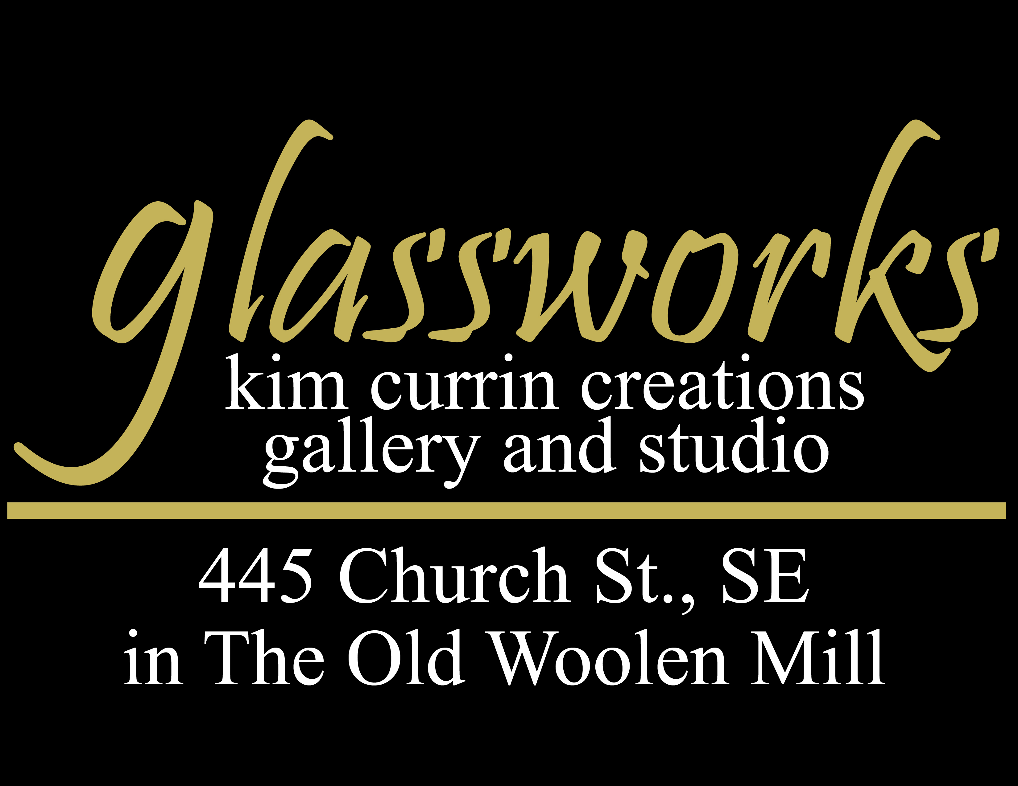 Glassworks Kim Currin Creations Gallery and Studio 445 Church Street SE in the Old Woolen Mill